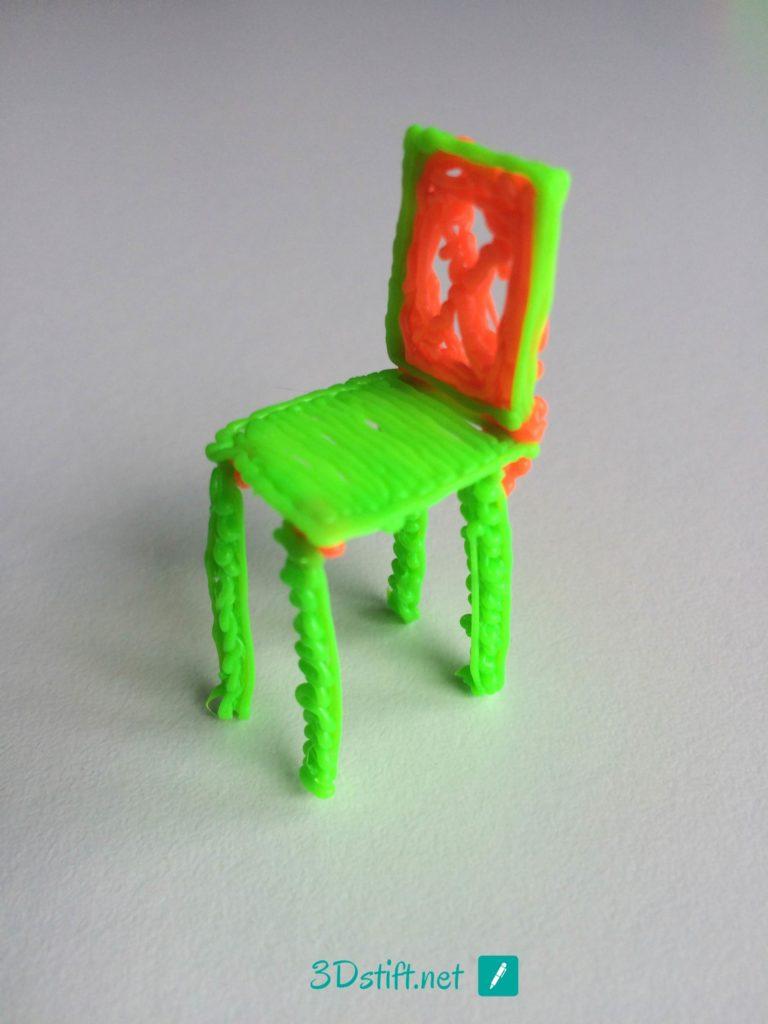 3Dooder 2.0 3D-Stift-Vorlage Stuhl