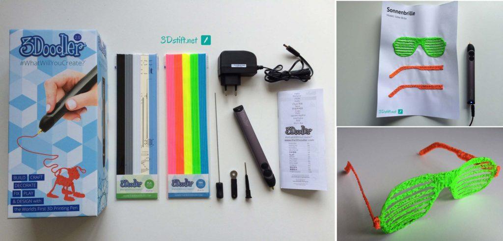 3Doodler 2.0 kaufen -Starter-Set Vorlage-3D-Druck Sonnenbrille