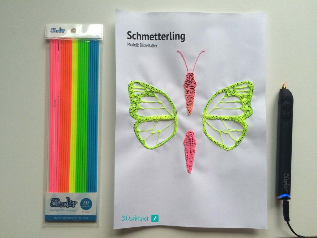 3Doodler Create Schablone Ideen Vorlage Schmetterling