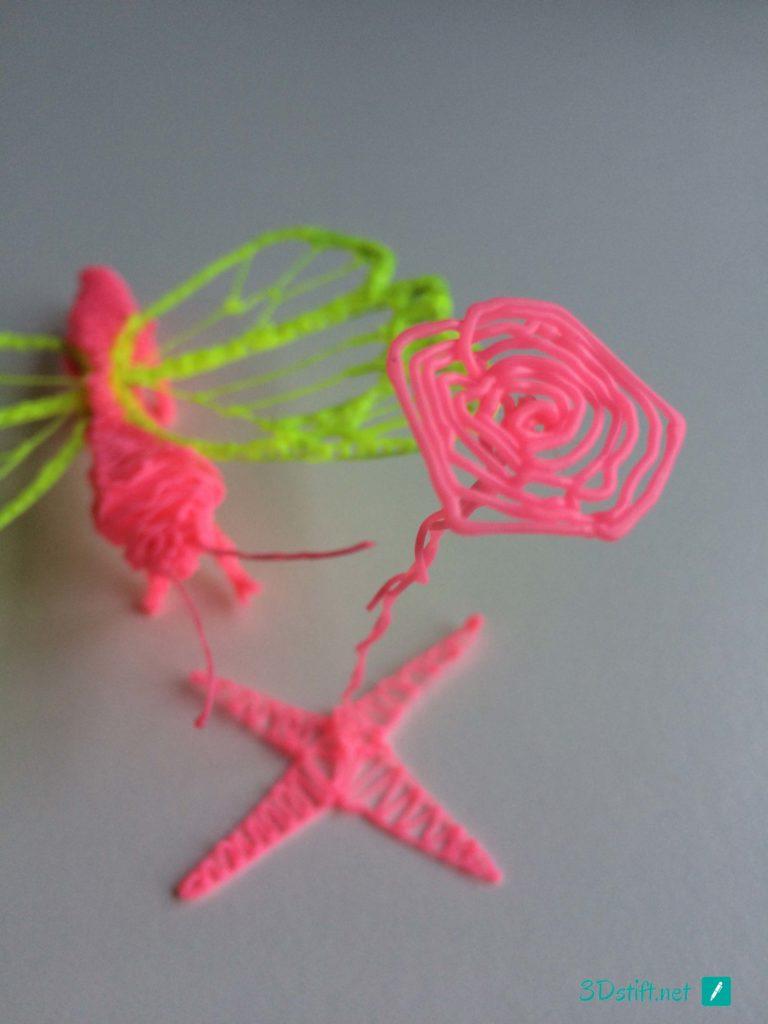 3D Druck Ideen Schmetterling und Blume 3D-Stift