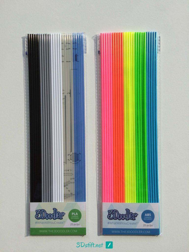 3Doodler 2.0 Filament ABS-und-PLA-Farben