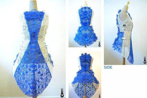 3D Kleid aus einen 3D Stift von einem 3D Künstler